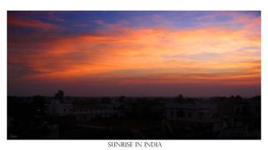 Sunrise in India by stwin