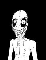 Grinning Man Sees You Ink B/W by Crazon