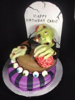 Zombie Birthday Cake by simplysweets
