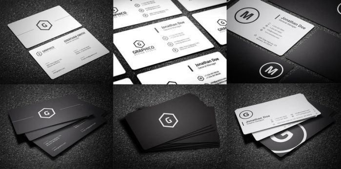 Black and White Business Cards Bundle - 13 by nazdrag