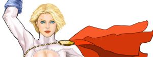 Power Girl Close Up by deemonHunter360