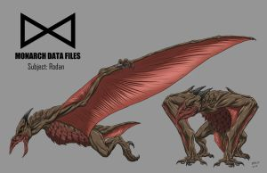 Kaiju Commissions - Monarch files: Rodan by Bracey100