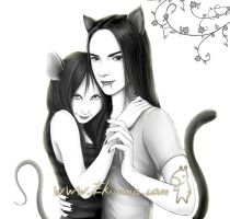 Cat and mouse :3 by Ekimma