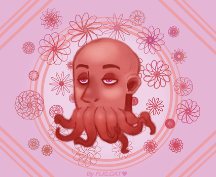 Flower Squid by FoolytheCat
