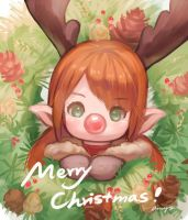 [FF14] Merry Christmas! by amy30535