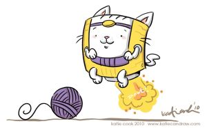 MODOK kitty by katiecandraw