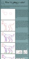 How to draw a wolf - Tutorial by Azuremon
