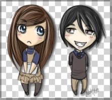 Perfect Paranoia Chibi's by MelodyMoore