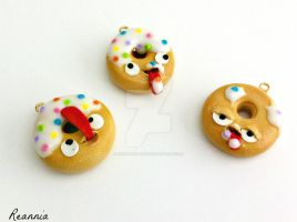 Hungry Donut Charms by Rhiannon-San