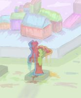 STATUE IN THE SHAPED HOUSE UNIVERSE by Elater