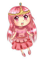 Chibi Princess Bubblegum by NoLightArtist