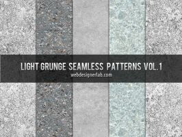 Light Grunge Seamless Patterns by xara24