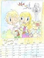 Zelda Calendar 2013 - January by Trillatia