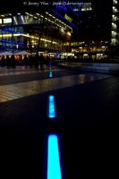 Blue line on the floor... by jimmyvilas