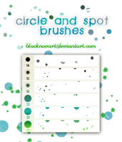 Circle and Spot Brushes by blacknovART