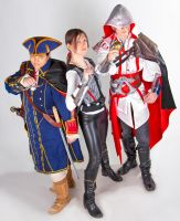 Nowhere to Run- Haytham, Ezio and Ezio Noble by OOTrishOO