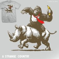 A Strange Country - tee by InfinityWave