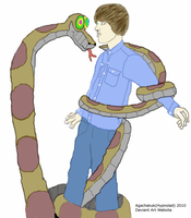 Justin and the Snake by hypnolad