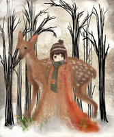 Boy and Deer by ChippidyxMessy