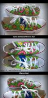 Simpsons fanart, custom hand painted shoes by Beffana