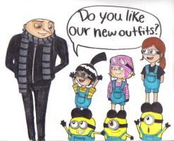 Despicable me : New Outfits by k-cruz-c-pura