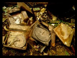 record player graveyard by thelastring