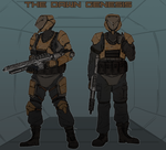The Dawn Genesis mercenaries by goeliath