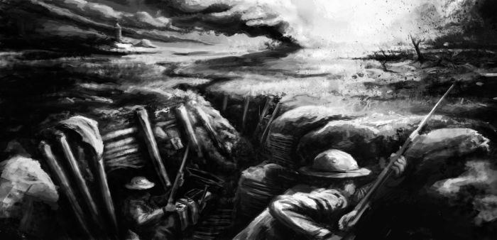 World War 1: trenches by Breaky