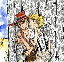 Huckleberry Finn w Tom Sawyer by freaky-dragonlady