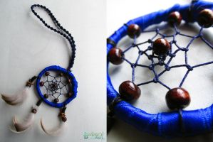 Dreamcatcher pendant blue by SuvetarsWell