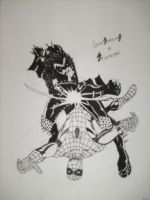Gene simmons vs Spidey by Lunkface89