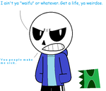 Personally I don't see Sans as the lover type by Epic-Hound