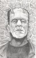 Karloff as the Monster by PaulSpatola