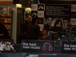 Torchwood signing stand in HMV by supersmeg123