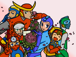 Robot Master Host Club by MrTwinklehead