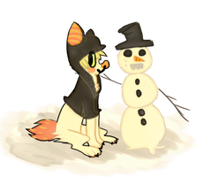 who needs friends when you have a snowman by Annie-bellie