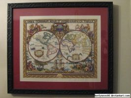 Olde World Map by berlynnwohl