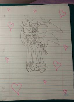 Art trades: take care of our baby girl by sonicfangarcia119