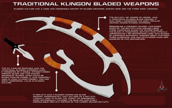 Klingon Bladed Weapons Tech Readout by unusualsuspex