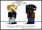 Birthday Card for Greenie by UncleWoodstock