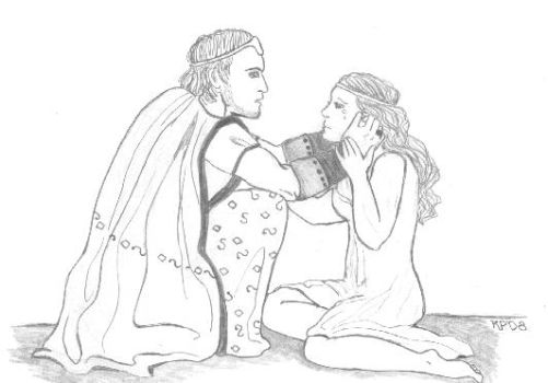 Agamemnon and Iphigenia by PheobeMeryll