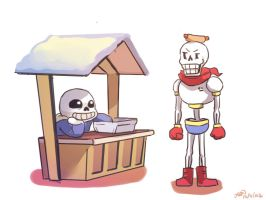 Undertale-head dogs by christon-clivef