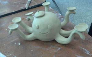 Ceramic Octopus by Kat-The-Piplup