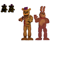 -FNAF edit-FNAF4-Fredbear and Spring Bonnie by Giorgiathefox