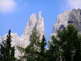 View on the Vajolet Towers by edelweiss26