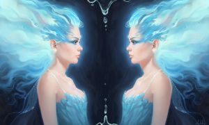 Blue Ice Flame Princess by Selenada