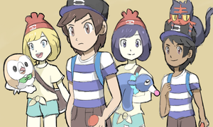 Pokemon Sun and Moon Trainers by AlSanya