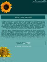 Sunflower Journal Skin by caybeach