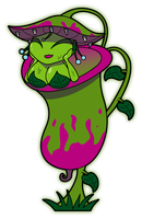 Pitcher Plant, Nepenthes by Sageroot