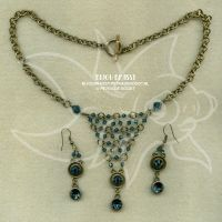Antique gold and blue set by spaceship505